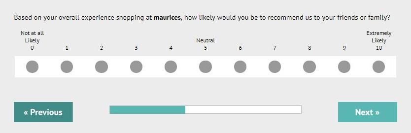 maurices survey feedback