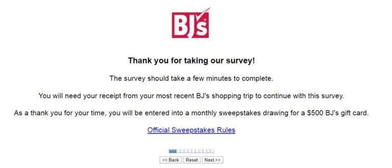 BJS survey desired language