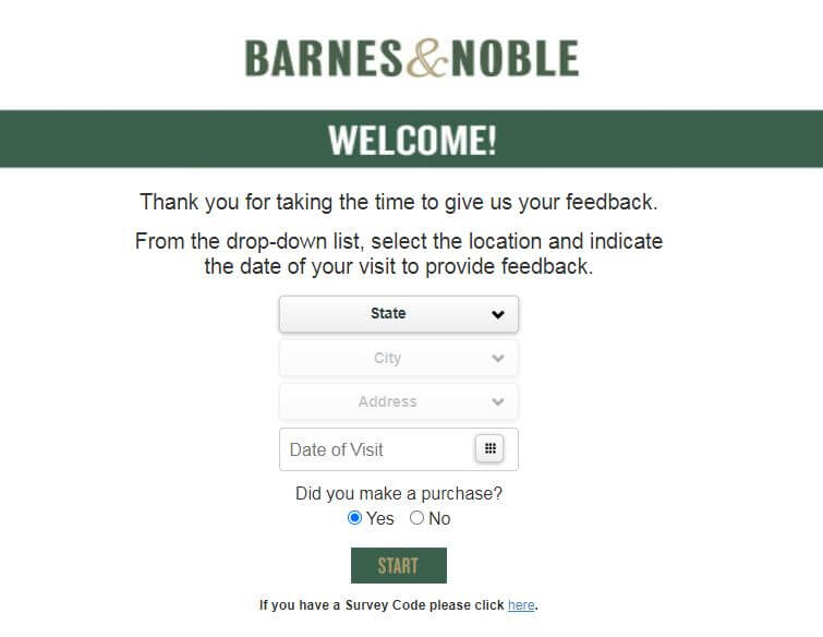 Barnesandnoblefeedback Survey