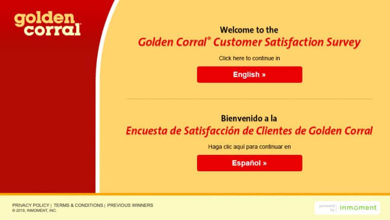 Golden Corral customer experience Survey
