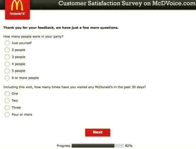mcdvoice questions