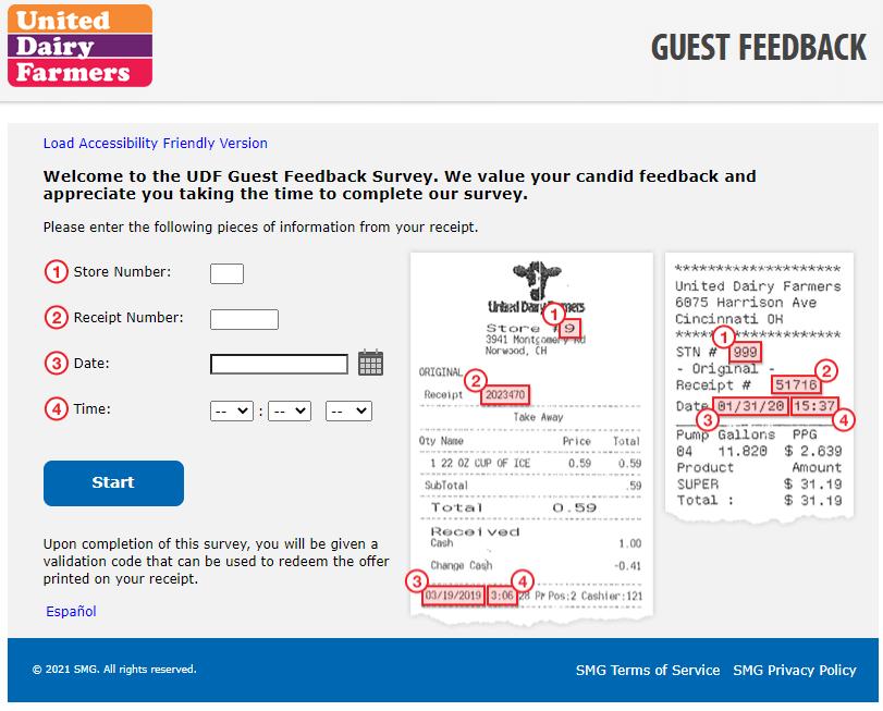 udffeedback survey